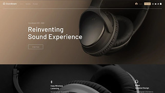 Online Store website templates - Headphones Landing Page