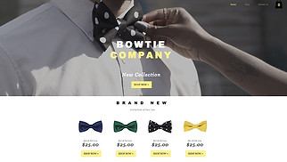 Jewelry & Accessories website templates - Bow Tie Store