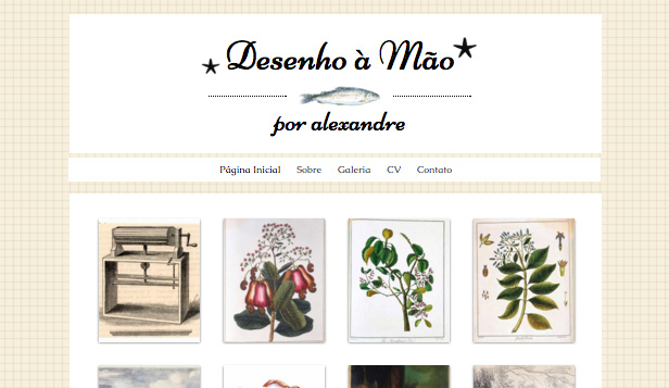 Artes Visuais website templates – Canto do Artista