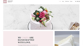 Cafe & Bakery website templates - Wedding Cakes