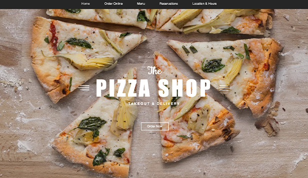 Restaurace website templates – Rozvoz pizzy