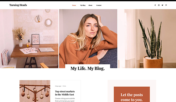 Personlig blogg website templates – livsstilsblogg