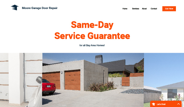 Business template – Ditta di riparazione porte per garage