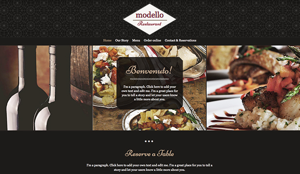 Restaurant og mat website templates – Italiensk restaurant