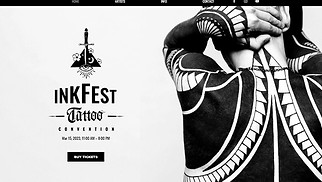 Events website templates - Tattoo Convention