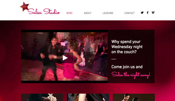 Locaties website templates –  Latin dance studio