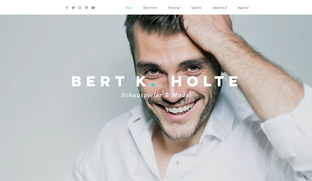 Alle website templates – Schauspieler & Models