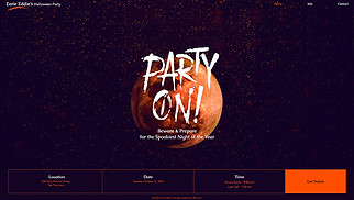 Events website templates - Halloween Party
