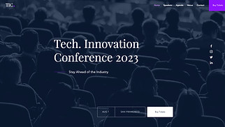 Events website templates - Tech Conference Landing Page