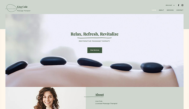 Wellness website templates – Massage Therapist