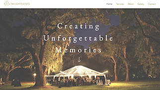Event Production website templates - Event Planners