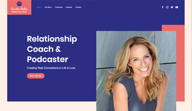 Podcast website templates – Relationscoach
