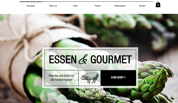 Restaurants & Essen website templates – Feinschmecker-Shop