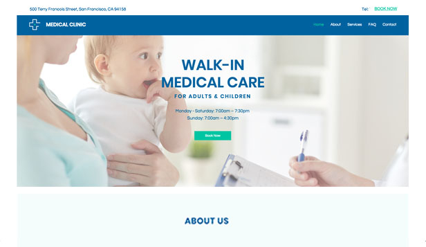 Helse website templates – Drop in-klinikk