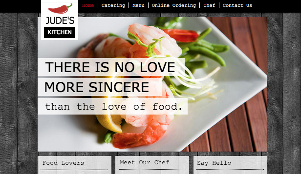 Templates de site web pour Restaurants - Traiteur