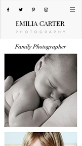 Fotografering website templates – Familjefotograf