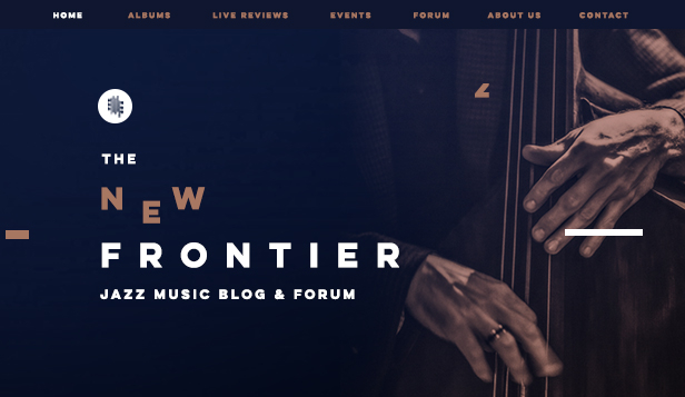 Kunst website templates – Jazz musikkblogg