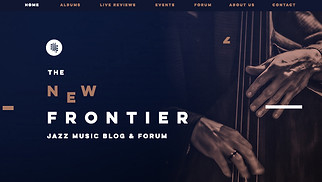 Music website templates - Jazz Music Blog