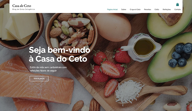 Alimentos e Bebidas website templates – Blog de Dieta