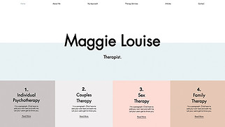 Health website templates - Therapy Services