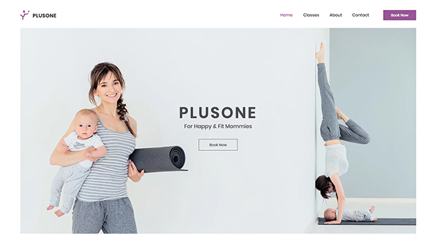 Sport en fitness website templates – Fitness voor moeders