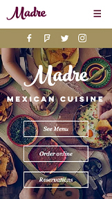 Catering og kokk website templates – Meksikans restaurant
