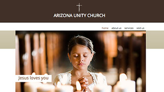 Religion website templates - Church Site