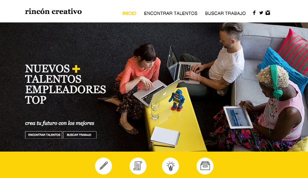 Comunicación y Marketing plantillas web – Agencia de empleo