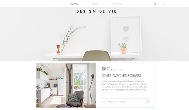 Templates de site web pour Architecture - Blog et Podcast style et design