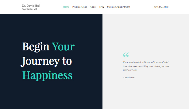 Helse website templates – Psykiater