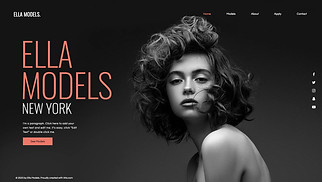 All website templates - Modeling Agency