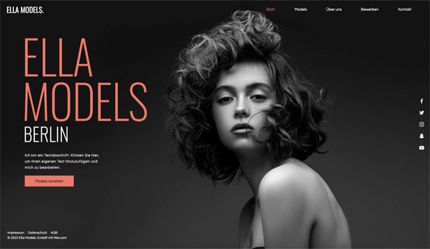 Alle website templates – Modelagentur