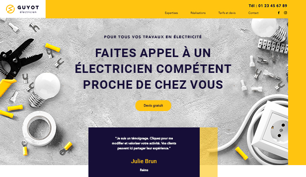 Travaux et Rénovations website templates – Electricien