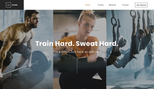 Sport en fitness website templates – Fit studio