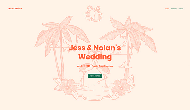 "Eventos plantillas web – ""Destination Wedding"""