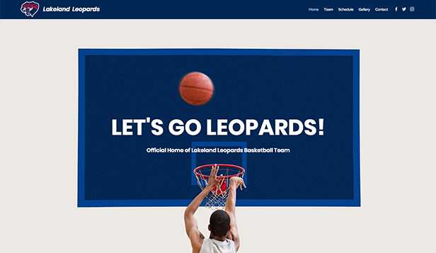 Sport en fitness website templates – Jeugd basketbalteam