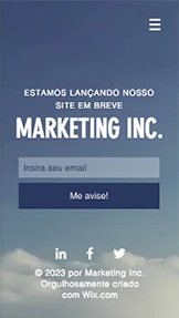 Em Breve website templates – Lançamento de Marketing