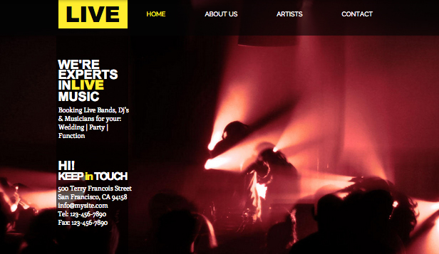 Eventi template – Music Event Management