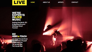 Event Production website templates - Music Event Production