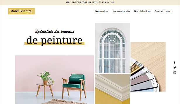 Travaux et Rénovations website templates – Peintres