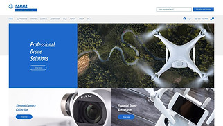 Electronics website templates - Drone Store