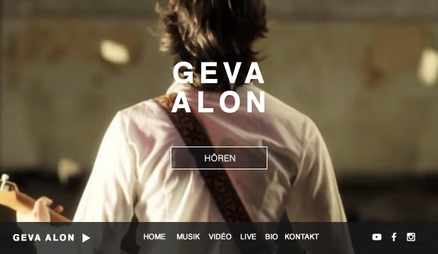 Musik website templates – Folk Singer / Songwriter
