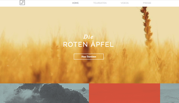 Musik website templates – Indie-Folk Musiker
