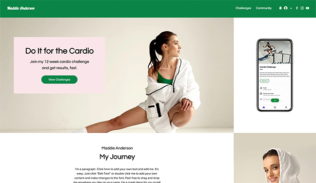 Novinky website templates – Fitness Program