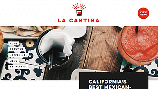 Restaurants & Food website templates - Mexican Bar