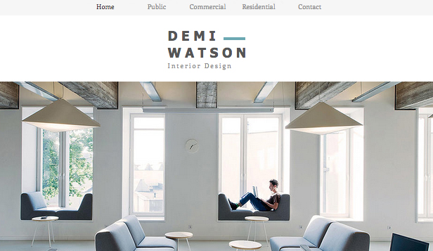 Business template – Portfolio di interior design