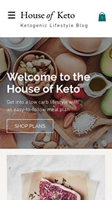 Essen & Trinken website templates – Keto-Diät-Blog