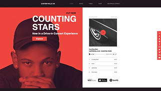DJ & Producer website templates - Rap Artist