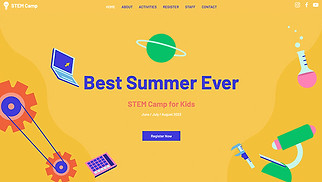 Education website templates - STEM Camp
