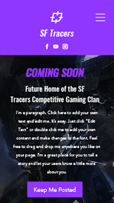 Landing Page template – Gaming in arrivo